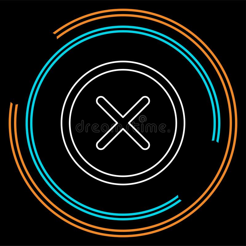 Borttagningstecken, symbol Runda färgglade 11 knappar vektor vektor illustrationer