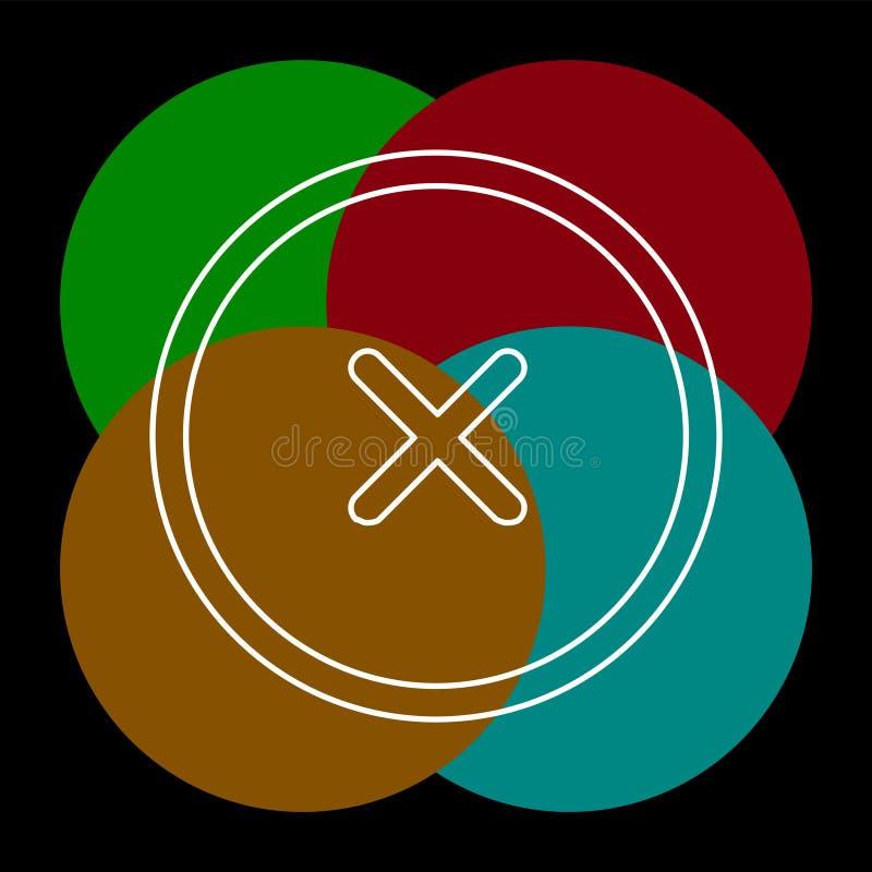 Borttagningsvektorsymbol royaltyfri illustrationer