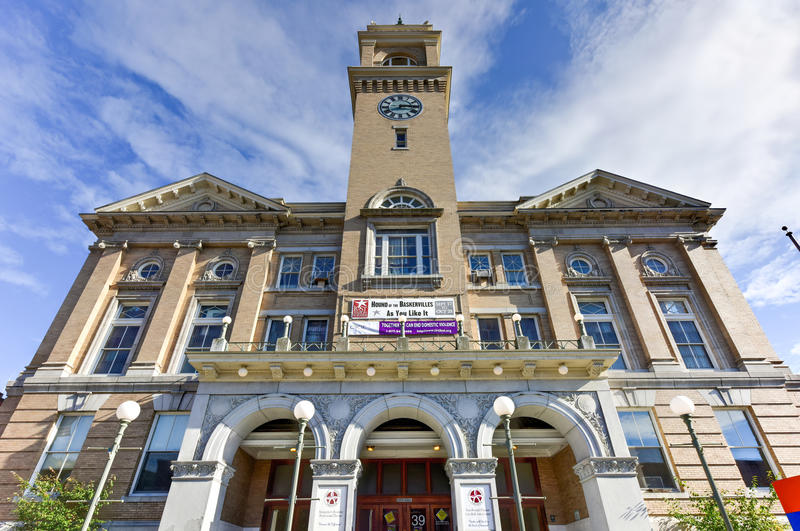 Borttappad nationteater - Montpelier stad Hall Arts Center royaltyfria foton