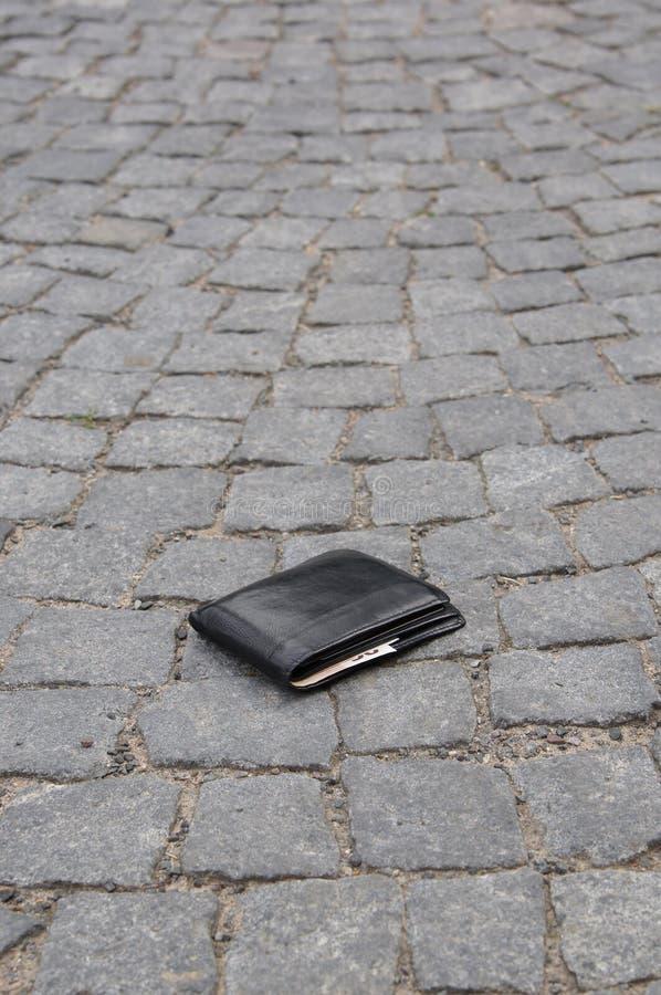 Borttappad plånbok royaltyfri bild