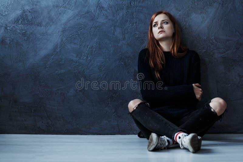 Borttappad tonårs- flicka fotografering för bildbyråer