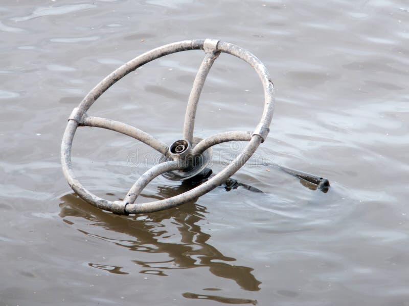 Borttappat hjul arkivbild