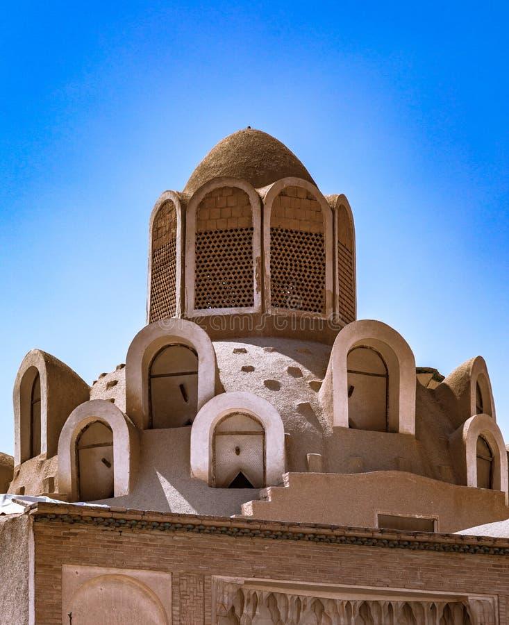 Borujerdi dom jest historycznym domem w Kashan, Iran Dom budował w 1857 architektem Ustad Ali Maryam dla żony o, zdjęcia royalty free