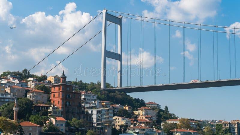 Borusan Eigentijdse Perili Kosk Istanboel is een kunstmuseum langs Bosphorus, de kust van Rumeli Hisari, Sariyer, Istanboel stock foto's