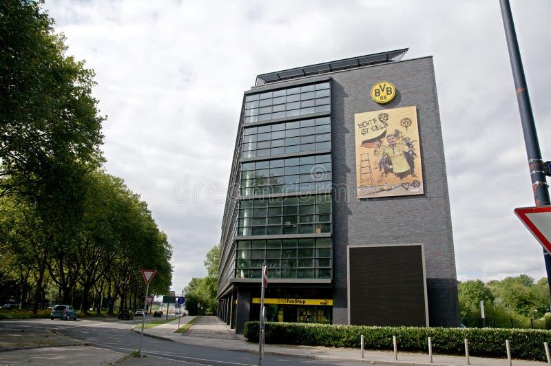 Borussia Dortmund - tienda de la fan foto de archivo libre de regalías