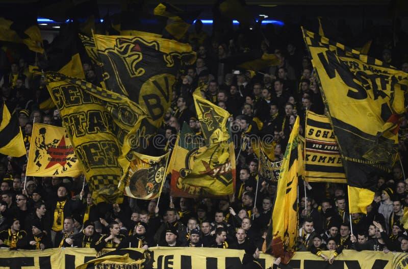 Borussia Dortmund Ultras Flags Editorial Stock Image Image Of Shoot Borussia 68501684