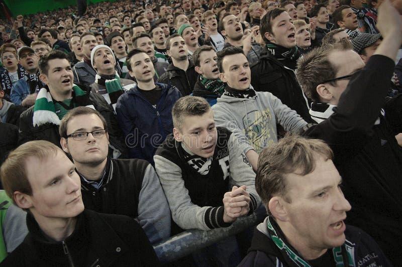 Borussia Monchengladbach fans royalty free stock photography