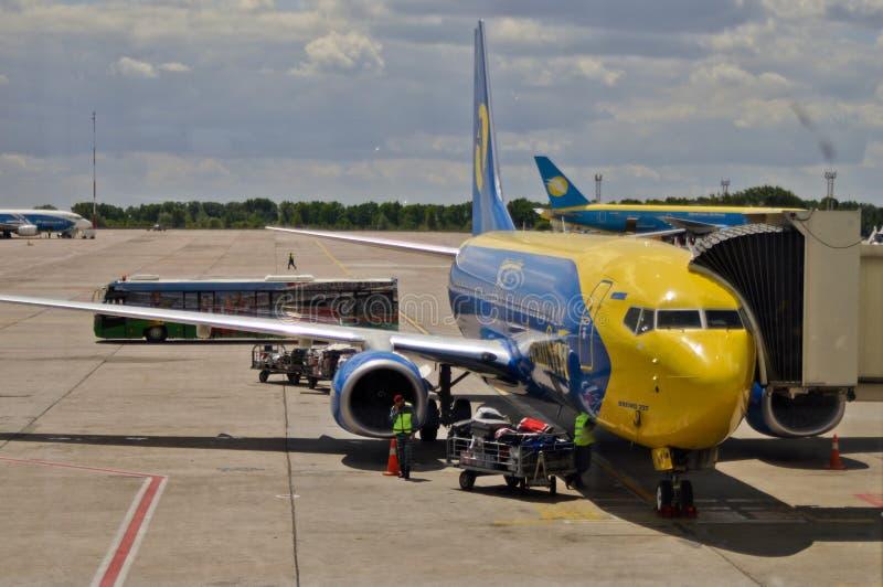 boryspil lotniskowy kyiv zdjęcie stock