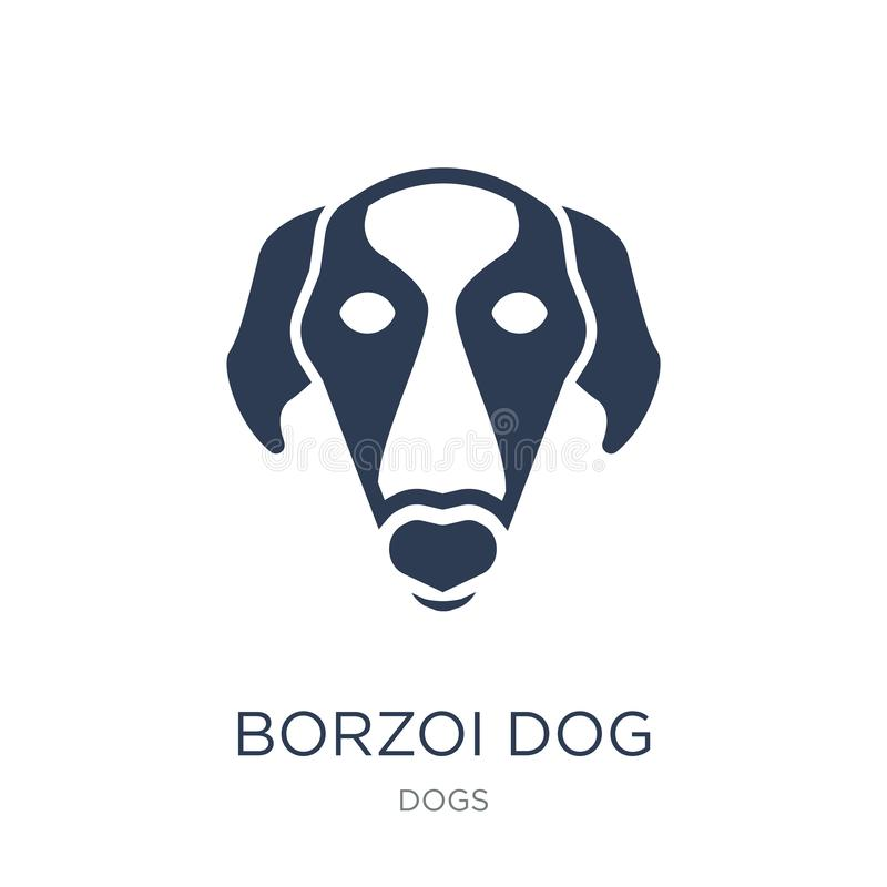 Borzoi dog icon. Trendy flat vector Borzoi dog icon on white background from dogs collection. Vector illustration can be use for web and mobile, eps10 royalty free illustration