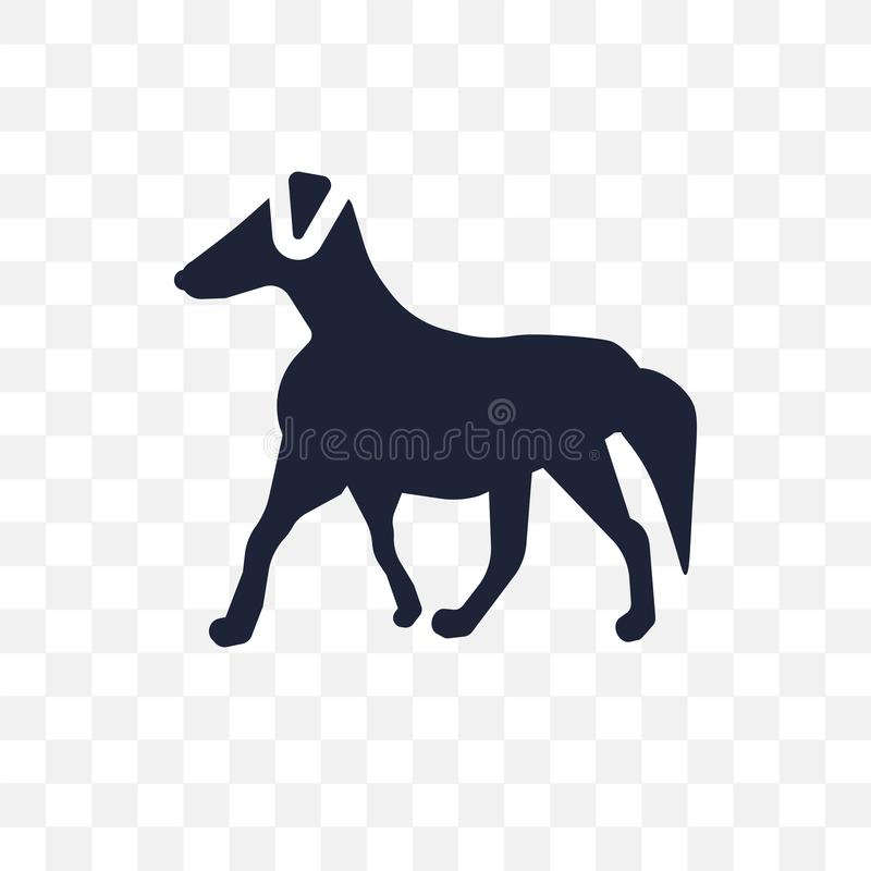 Borzoi dog transparent icon. Borzoi dog symbol design from Dogs. Collection. Simple element vector illustration on transparent background royalty free illustration