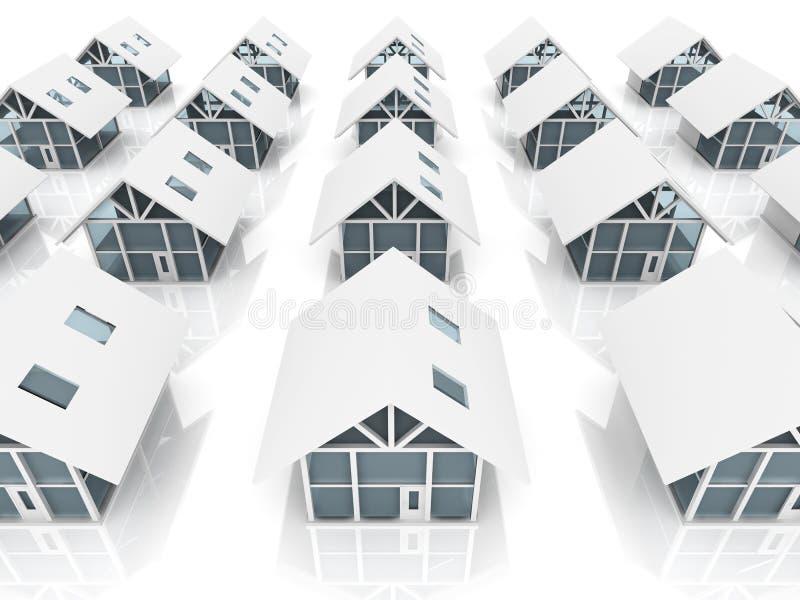 bosättning vektor illustrationer