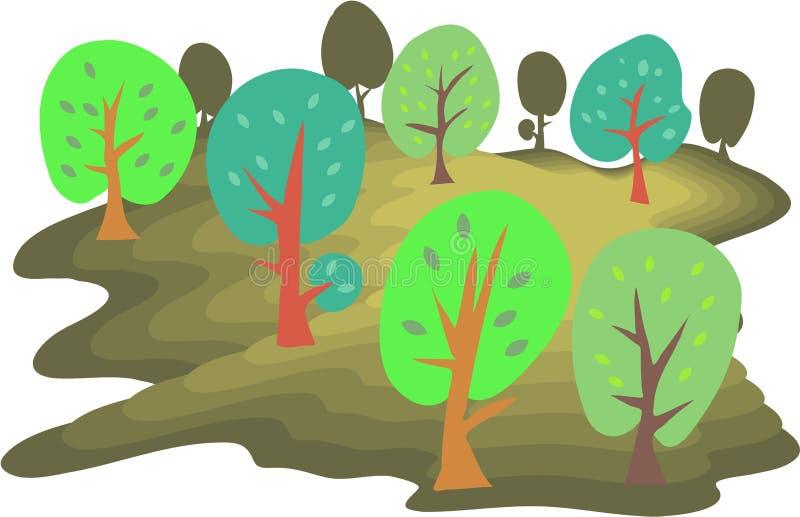 Bos stock illustratie