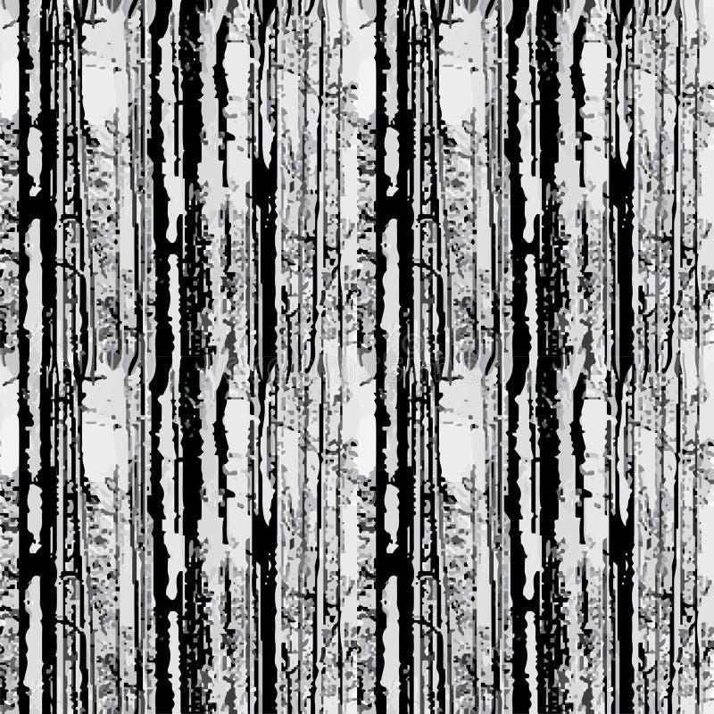 Bos naadloze achtergrond op wit Vector royalty-vrije illustratie