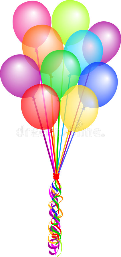 Bos van Ballons/eps vector illustratie