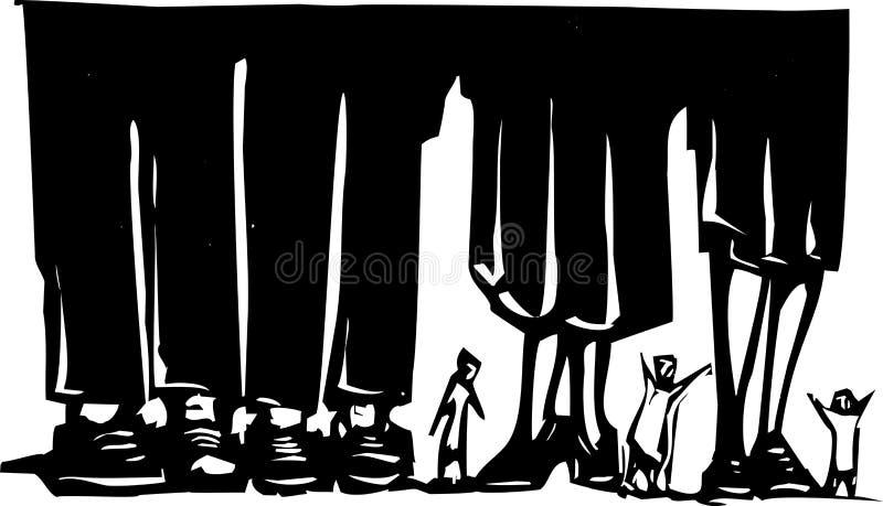 Bos van Benen stock illustratie
