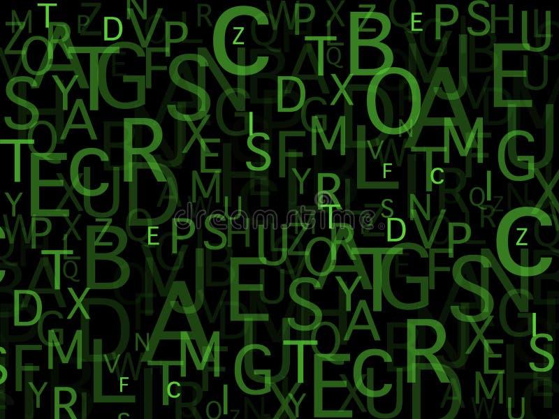 Bos van brieven stock afbeelding