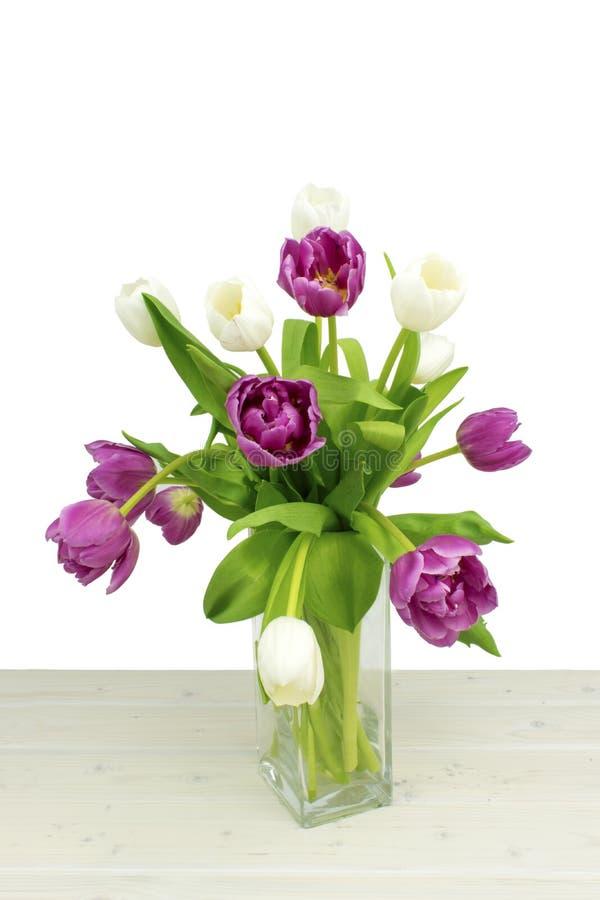 Bos van de bloemen van de lentetulpen royalty-vrije stock foto