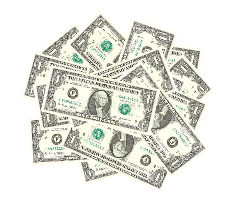 Bos van dollars royalty-vrije stock afbeeldingen