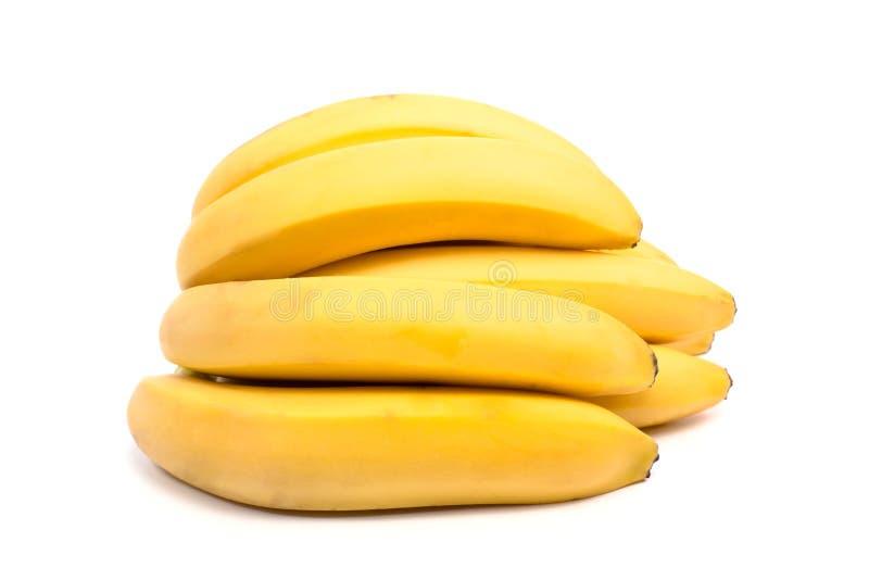 Bos van geïsoleerdeg bananen royalty-vrije stock fotografie