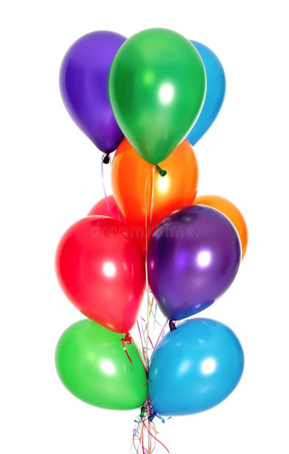 Bos van kleurrijke ballons stock foto