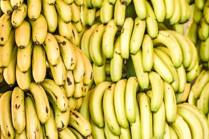Bos van Rijpe Bananen in een Lokale Markt royalty-vrije stock foto