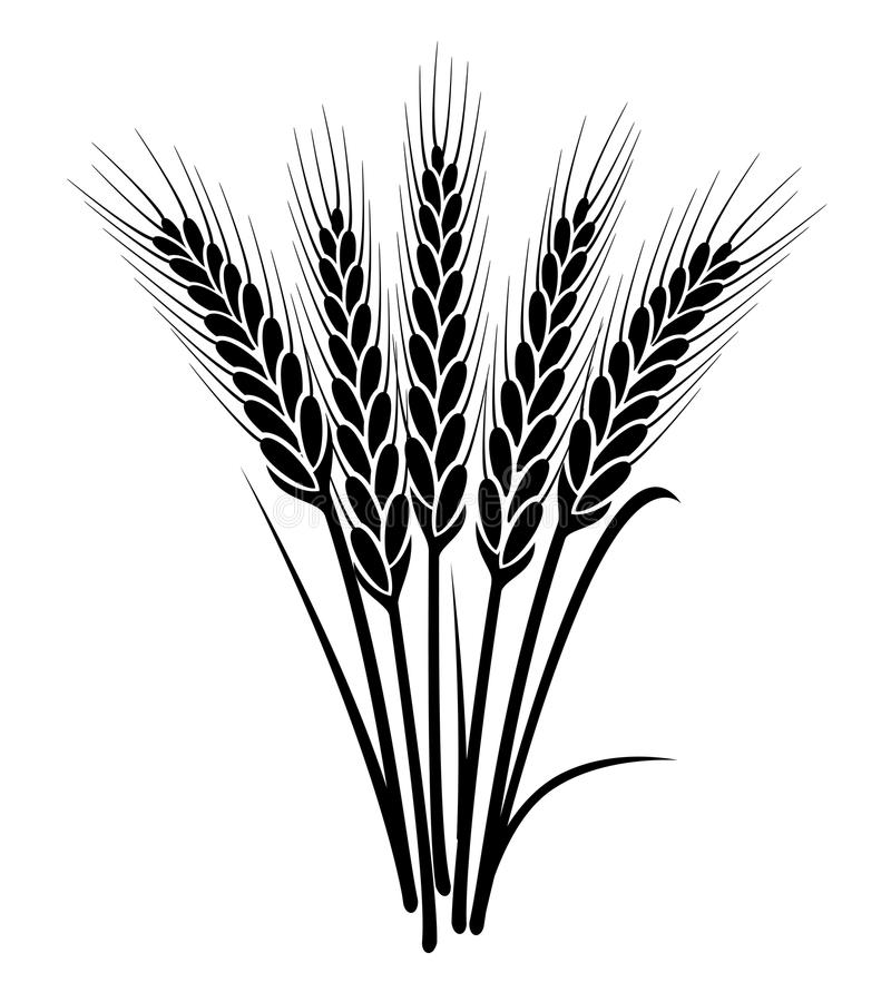 Bos van tarweoren stock illustratie