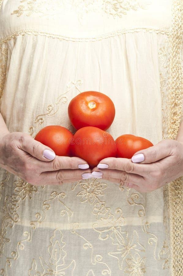Bos van tomaten royalty-vrije stock afbeelding