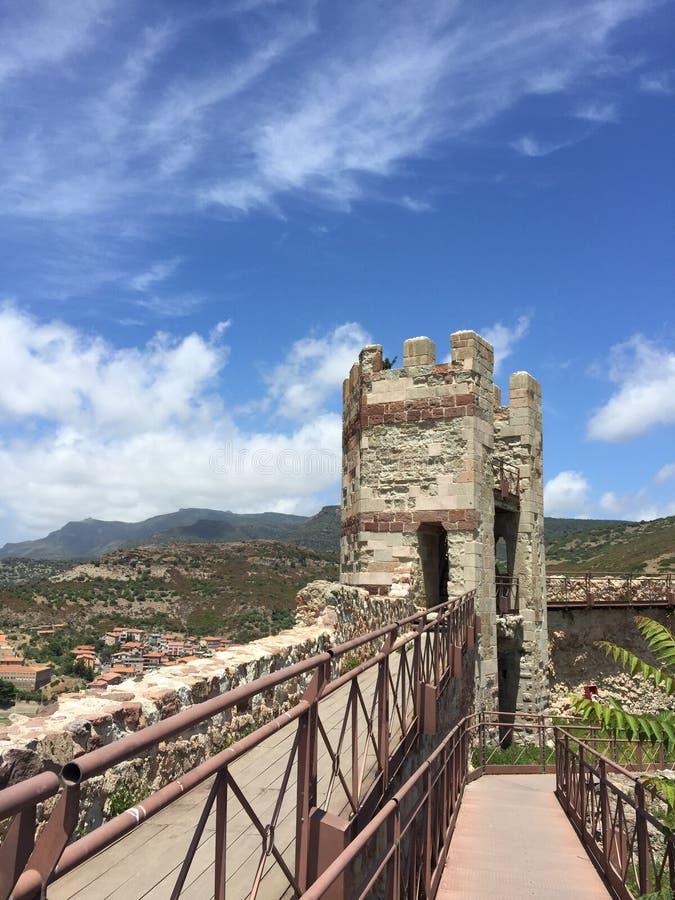 Bosa Сардиния Castel стоковые изображения rf