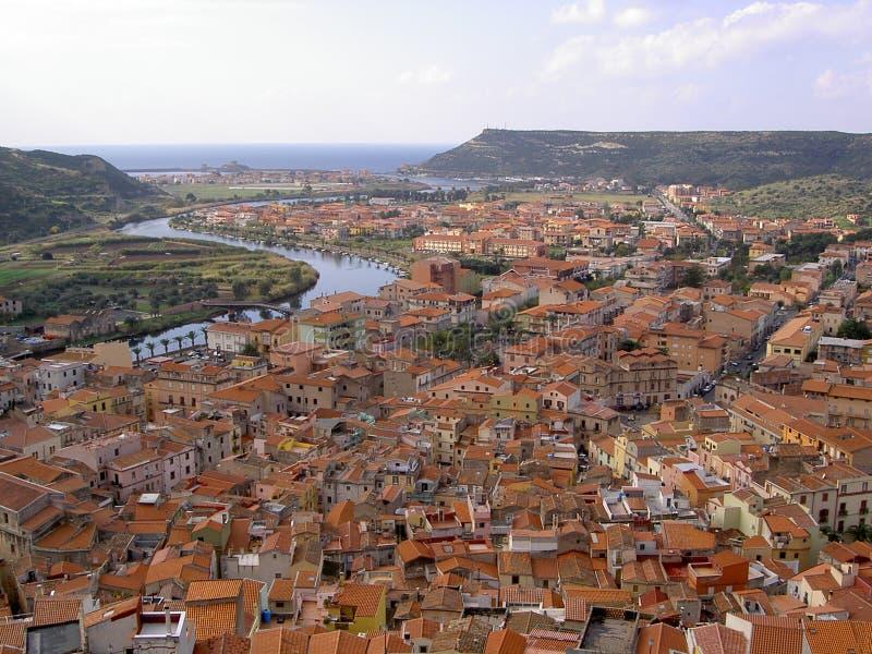 Download Bosa image stock. Image du italie, ville, maison, fleuve - 85579