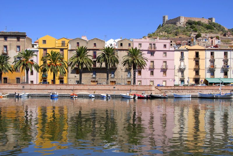 Bosa, Cerdeña, Italia imagen de archivo libre de regalías