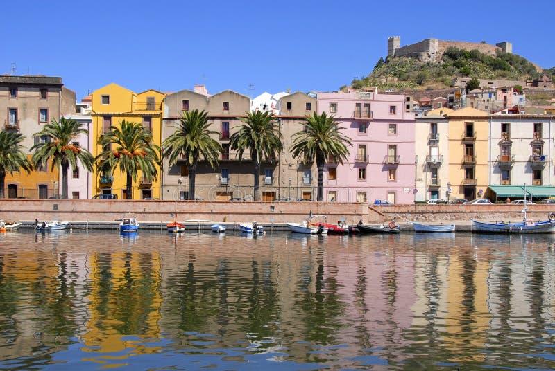 bosa Italie Sardaigne image libre de droits