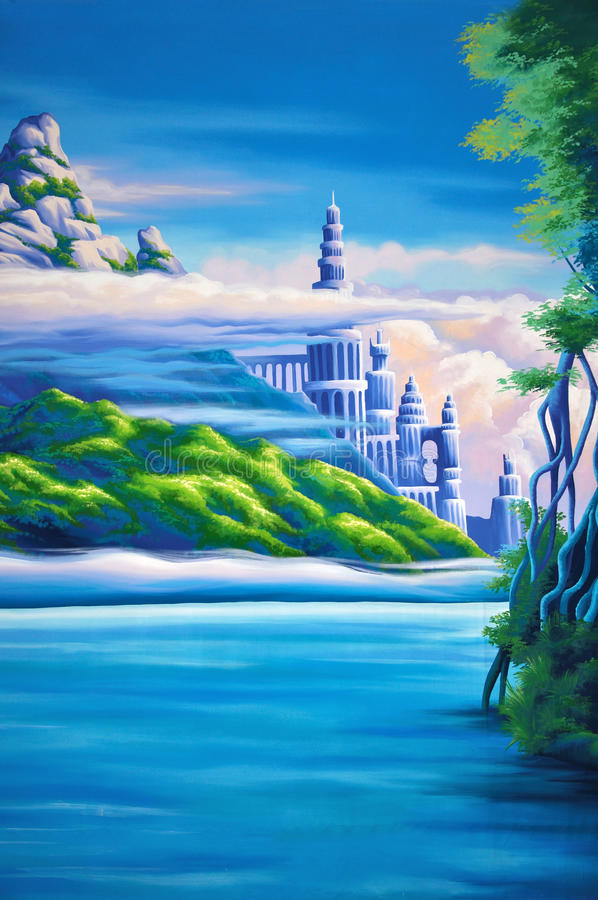 Bosachtergrond royalty-vrije illustratie