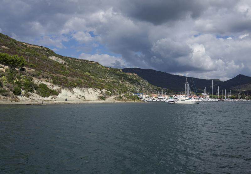 Bosajachthaven, Sardinige, Italië stock foto