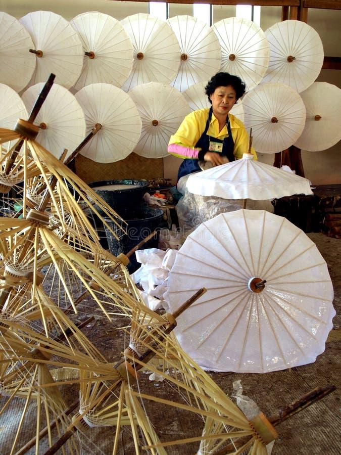 Bosang-parapluie Changmai, Thaïlande image libre de droits