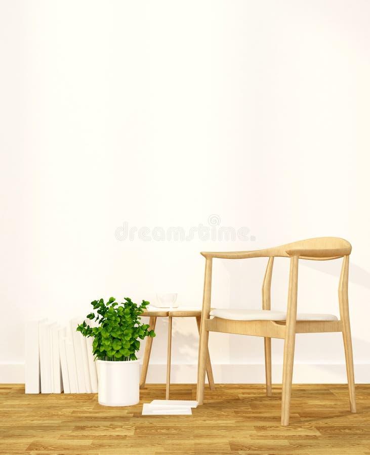 Bosatt område i lägenhet eller hemmiljödesignen för konstverk - tolkning 3D royaltyfri illustrationer