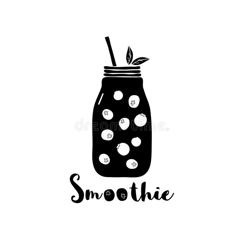 Bosbes smoothie vector illustratie