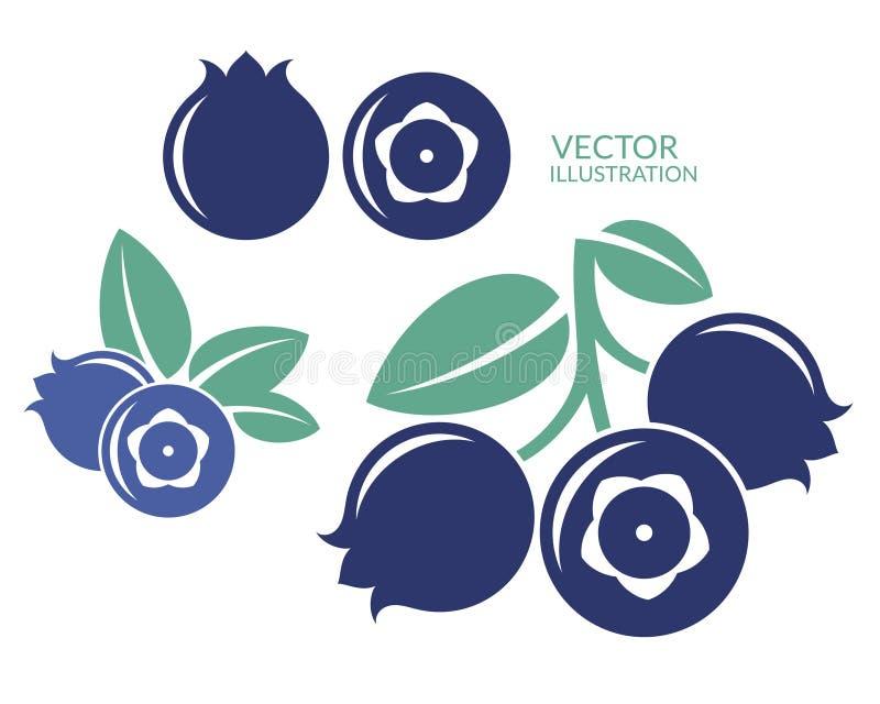 Bosbes Vector op CMYK-wijze royalty-vrije illustratie