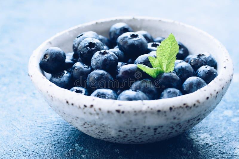 Bosbessen anti-oxyderende organische superfood royalty-vrije stock afbeeldingen