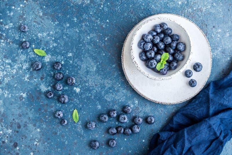 Bosbessen anti-oxyderende organische superfood stock afbeelding