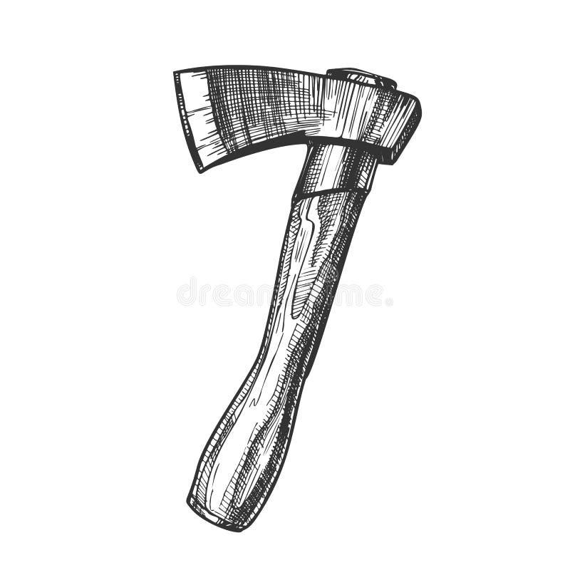 Boscaiolo tagliente di legno Instrument Ax Vector royalty illustrazione gratis