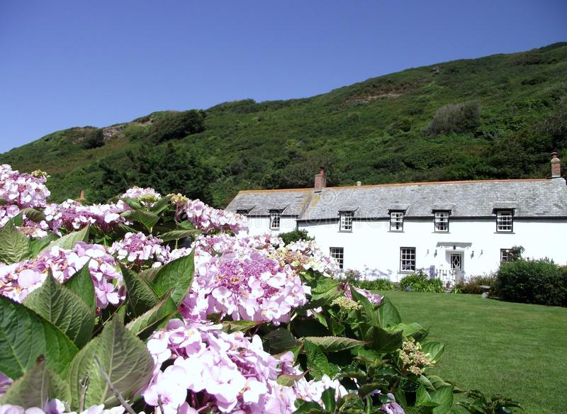 Boscastle: Cottages and Gardens royalty free stock photos