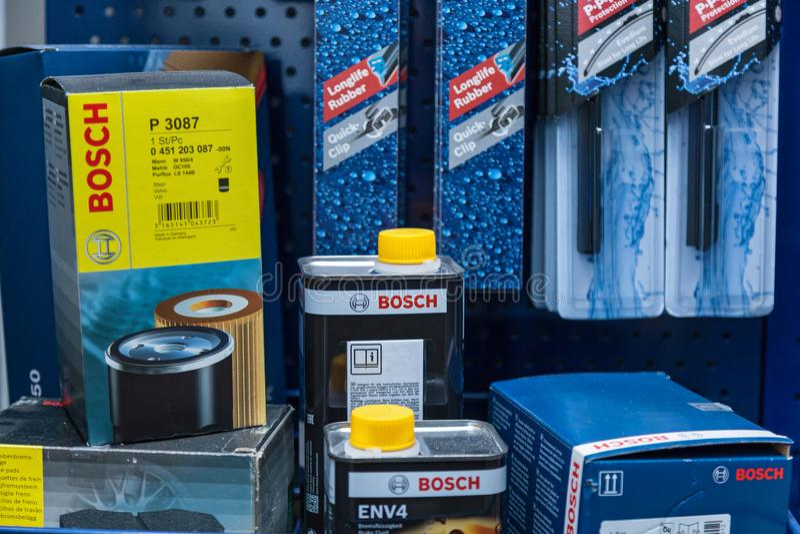 Bosch汽车服务 免版税库存图片