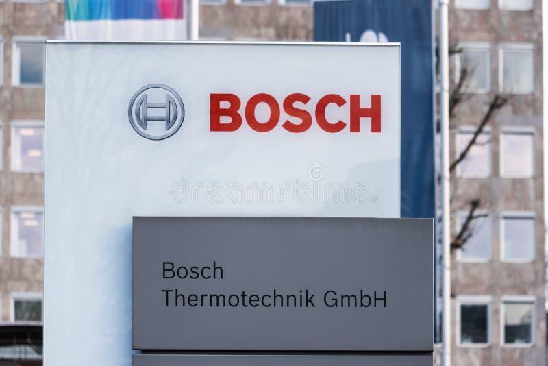 Bosch Fabrikschild in Wetzlar - Deutschland stockbild