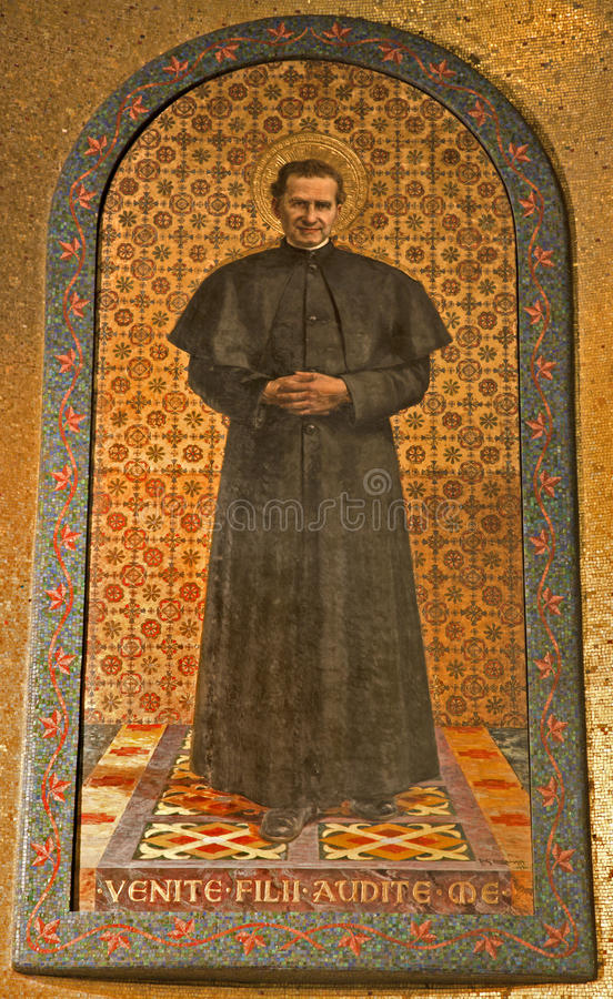 bosco надевает святейшую мозаику милана стоковые фото