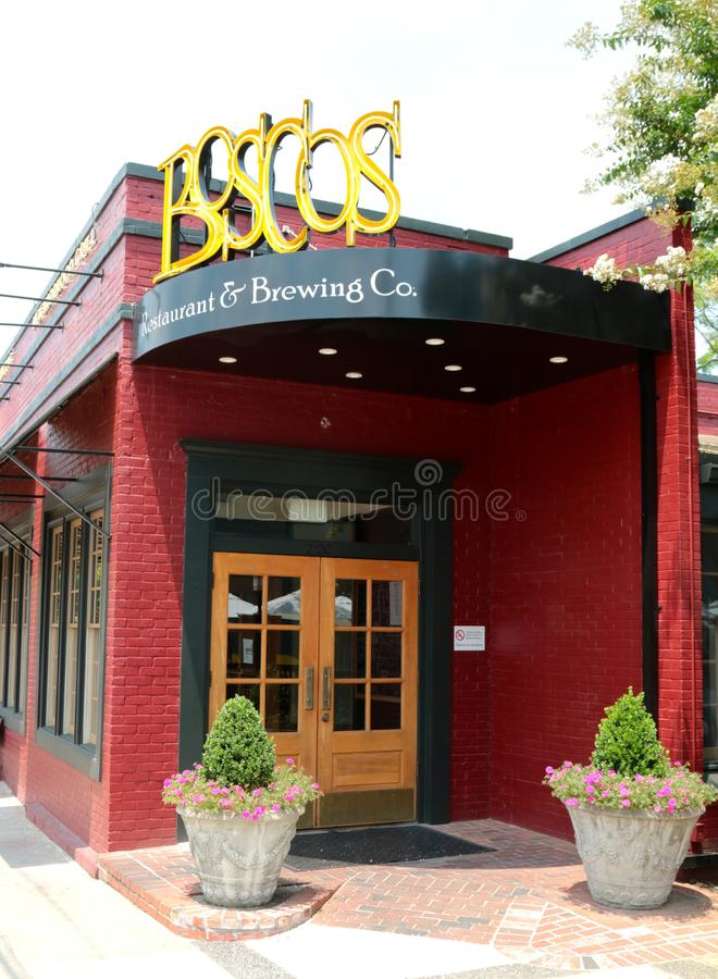 Bosco's Resturant I Piwowarstwo Firma fotografia royalty free