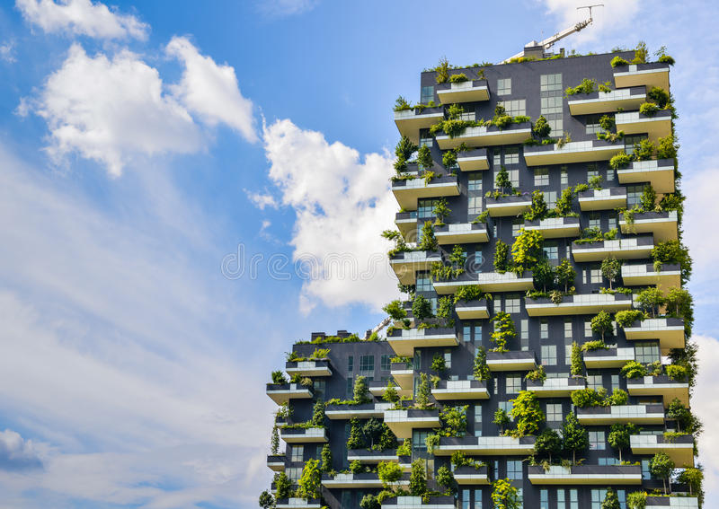 Bosco Verticale, Milan, Italy royalty free stock images