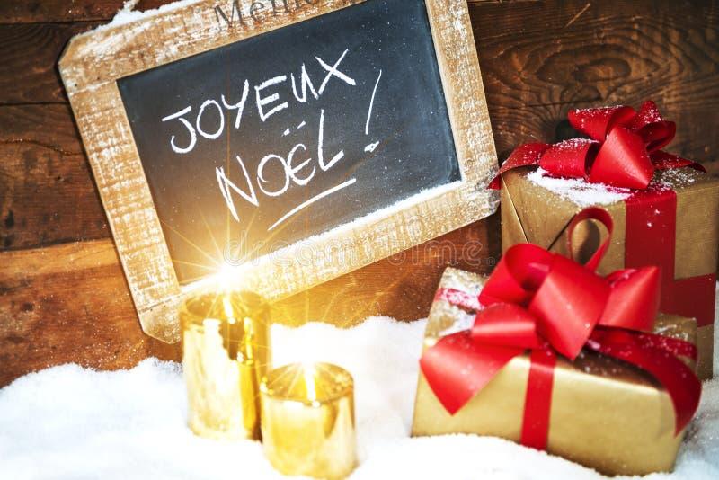 Boses y velas del regalo para la Navidad fotografía de archivo libre de regalías