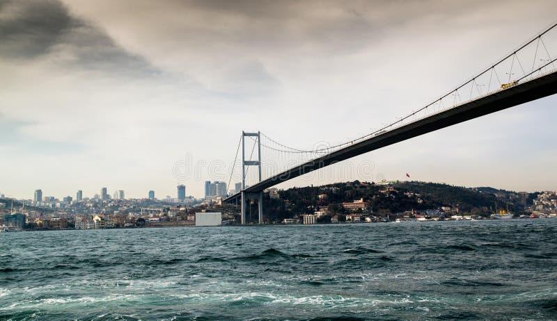 Bosfor bro royaltyfria foton