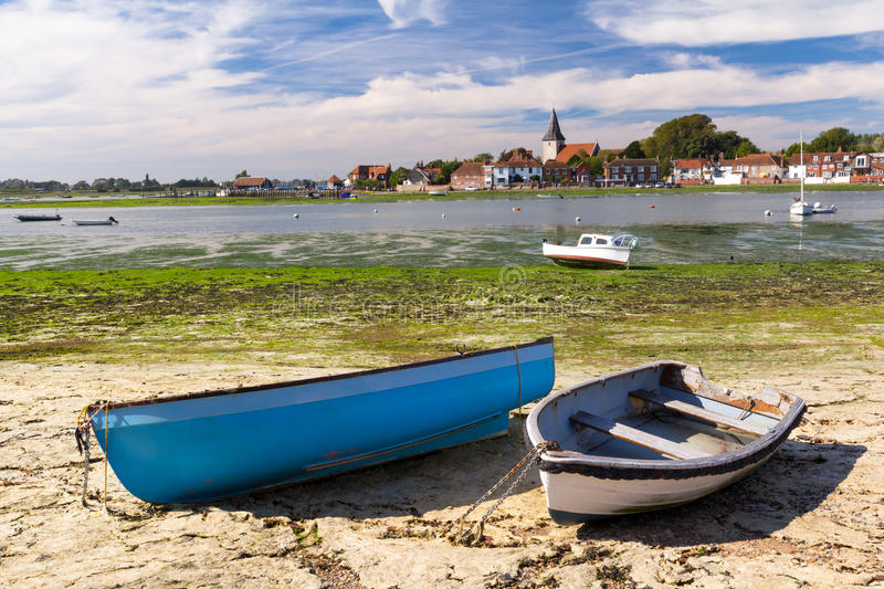 Bosham West Sussex. Boats moored at the picturesque village of Bosham West Sussex, England UK royalty free stock photos
