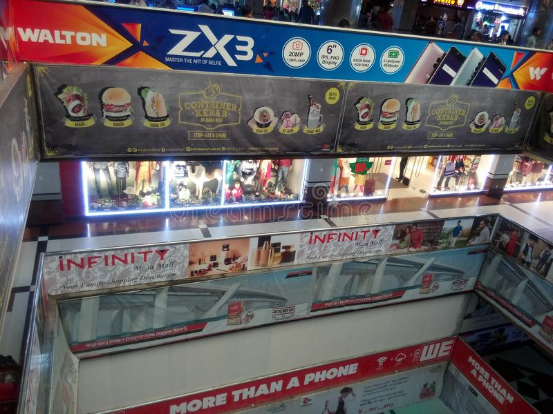 boshundhar shoping marknad royaltyfri foto